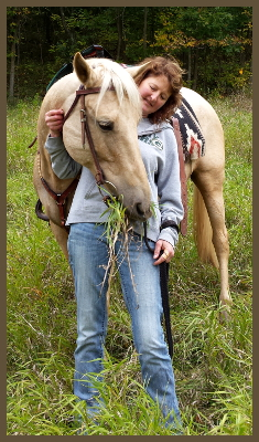 kathy with her horse